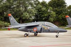 Aereo dell'istruttore di Alpha Jet del francese Fotografia Stock Libera da Diritti