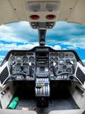 Aereo della cabina di pilotaggio. Fotografie Stock