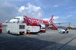 Aereo di Air Asia Fotografia Stock Libera da Diritti