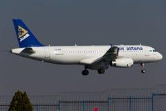Aereo di Airbus A320 Fotografia Stock Libera da Diritti