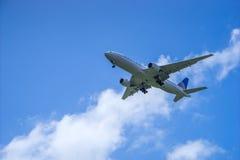 Aereo di atterraggio fotografie stock libere da diritti