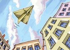 Aereo di carta. Immagine Stock