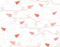 Aereo di carta di origami Fotografie Stock