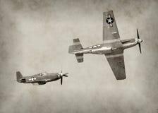Aereo di combattimento di era WW2 Immagine Stock Libera da Diritti