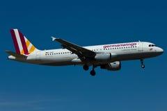 Aereo di Germanwings A320 Fotografia Stock Libera da Diritti