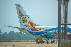 Aereo di linea aerea della NOK atterrato a Ubonratchatani fotografia stock libera da diritti