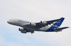 Aereo di linea del Airbus A380 Fotografia Stock