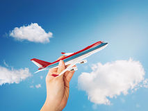 aereo di linea del giocattolo della rappresentazione 3D Immagine Stock Libera da Diritti