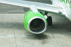 Aereo di linea dell'aereo passeggeri Fotografia Stock