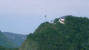 Aereo di promozione sopra la spiaggia di Copacabana Fotografie Stock Libere da Diritti