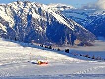 Aereo di sci nelle alpi Fotografie Stock