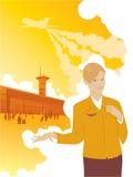 Aereo di viaggio dell'hostess di Aeroport Immagini Stock