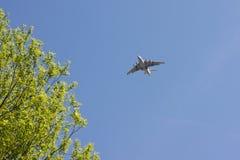 Aereo di volo nel cielo Fotografia Stock Libera da Diritti