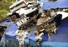 Aereo distrutto Fotografie Stock