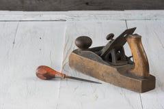 Aereo e punteruolo di blocco utilizzati nella carpenteria Fotografie Stock