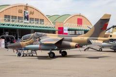 Aereo marocchino reale di Dassault Alpha Jet dell'aeronautica Immagine Stock Libera da Diritti