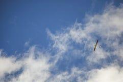 Aereo nel cielo Fotografia Stock Libera da Diritti