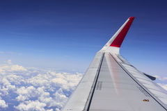 Aereo nel cielo blu Fotografie Stock