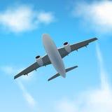 Aereo nelle nuvole Fotografia Stock Libera da Diritti