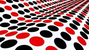 Aereo ondeggiato con i cerchi in rosso ed in nero su bianco royalty illustrazione gratis