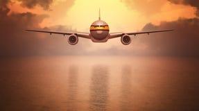 Aereo passeggeri Fotografia Stock