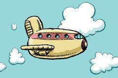 Aereo passeggeri del fumetto Immagini Stock