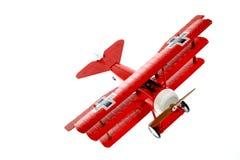 Aereo rosso del giocattolo Fotografia Stock