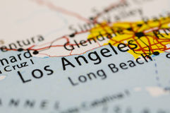 Aereo sopra LA, California Fotografia Stock