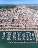 aereo Video fucilazione dal cielo Vila Real Santo Antonio del villaggio Fotografia Stock