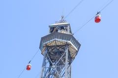 Aeri del port funicular Fotografía de archivo libre de regalías