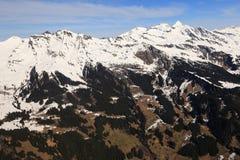 Aeri suíço de Suíça das montanhas dos cumes de Schwarzhorn Reeti Faulhorn Fotos de Stock