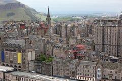 Aeriaal-Ansicht Edinburgh, Schottland, Großbritannien Lizenzfreie Stockfotos