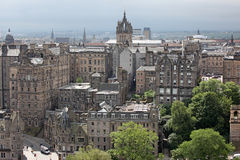 Aeriaal view Edinburgh, Scotland Stock Photo