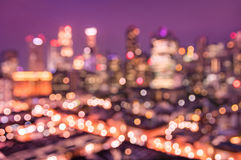 Aerial abstract bokeh filter of Singapore skyline from above Stock Photography