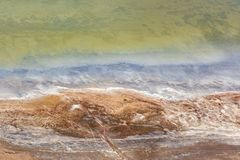 Aerial abstract view of Great Ocean Road coastline, Victoria, Australia stock image