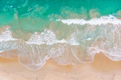 Aerial View of Wave royalty free stock photo