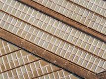 aerial Abstrakter Mustersalzseeblick vom Himmel Stockfotografie