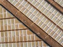 aerial Abstraktes Mustersalzseen citi Tavira Stockbilder