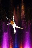 Aerial acrobatics show. Stock Photo