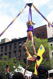 Aerial acrobats. Royalty Free Stock Photos