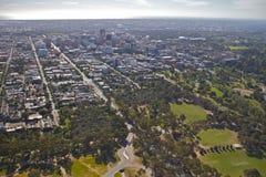 Aerial adelaide city Stock Photos