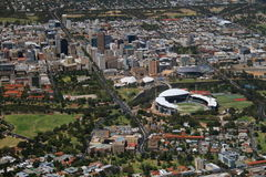 Aerial adelaide city Royalty Free Stock Photo