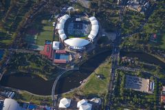 Aerial adelaide oval Royalty Free Stock Photo