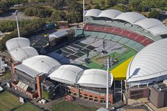 Aerial adelaide oval Stock Photos