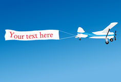 Aerial advertising Royalty Free Stock Photos
