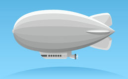 Aerial advertising zeppelin illustration Stock Photos
