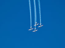 Aerial aerobatics Israeli Air Force on Israel Independence Day Stock Image