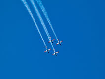Aerial aerobatics Israeli Air Force on Israel Independence Day Stock Photography