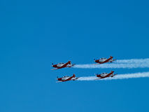 Aerial aerobatics Israeli Air Force on Israel Independence Day Royalty Free Stock Images
