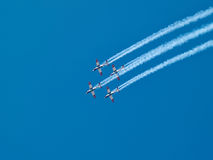Aerial aerobatics Israeli Air Force on Israel Independence Day Stock Photo